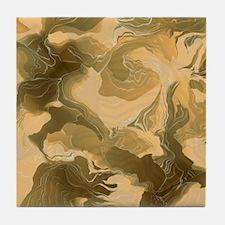 Swirling Desert Camo Tile Coaster
