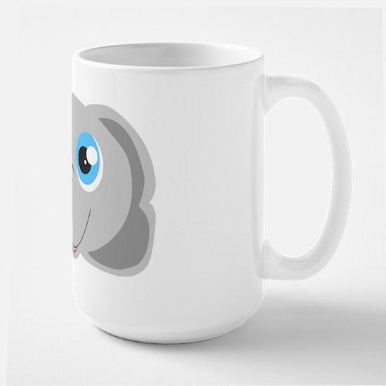 Cute Elephant Head Cartoon Large Mug
