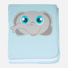 Cute Elephant Head Cartoon baby blanket
