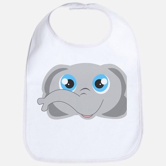 Cute Elephant Head Cartoon Bib
