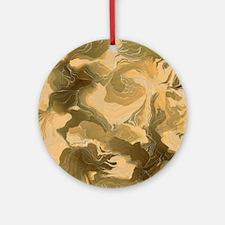 Swirling Desert Camo Ornament (Round)