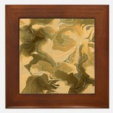 Swirling Desert Camo Framed Tile