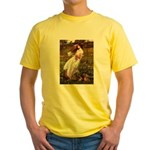 Windflowers / Dachshund Yellow T-Shirt