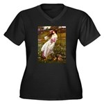 Windflowers / Dachshund Women's Plus Size V-Neck D