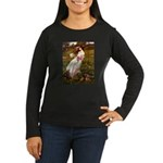 Windflowers / Dachshund Women's Long Sleeve Dark T