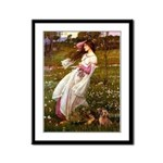 Windflowers / Dachshund Framed Panel Print