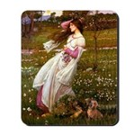 Windflowers / Dachshund Mousepad