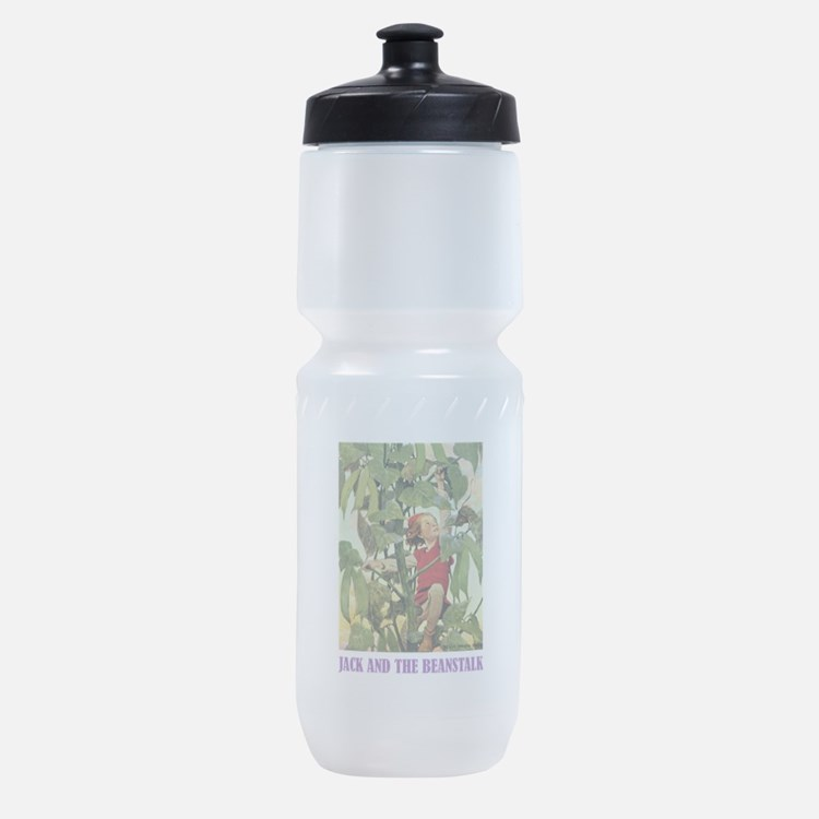 Jack and the Beanstalk_purple.png Sports Bottle