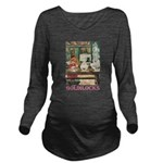 GOLDILOCKS_PINK.png Long Sleeve Maternity T-Shirt
