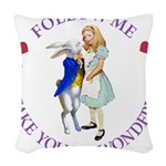 ALICE AND RABBIT PURPLE copy.png Woven Throw Pillo