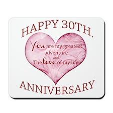 30th. Anniversary Mousepad