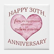 30th. Anniversary Tile Coaster