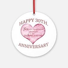 30th. Anniversary Ornament (Round)