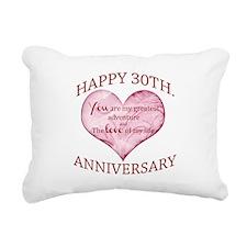 30th. Anniversary Rectangular Canvas Pillow