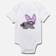 Burgundy Awareness Ribbon Bunny Rabbit Infant Body