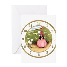 MARY HAD A LITTLE LAMB CLOCK.png Greeting Card