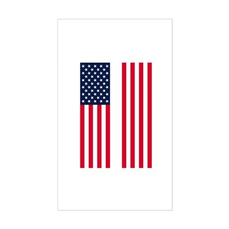 Patriotic Twin Towers Rectangle Sticker