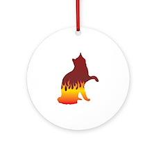 Van Flames Ornament (Round)