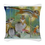 The Fairy Circus004_10x14.png Woven Throw Pillow