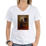 Lincoln's Dachshund Women's V-Neck T-Shirt