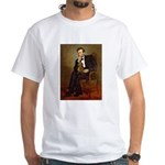 Lincoln's Dachshund White T-Shirt
