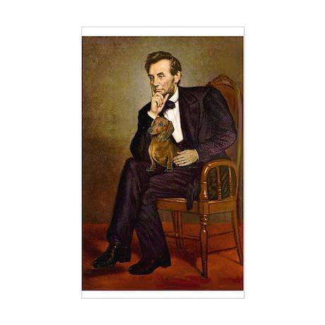 Lincoln's Dachshund Sticker (Rectangle)