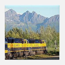 Alaska Railroad locomotive engine & m Tile Coaster