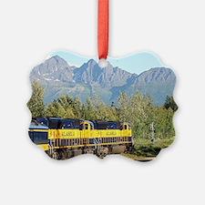 Alaska Railroad locomotive engine Ornament