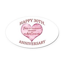 30th. Anniversary Oval Car Magnet