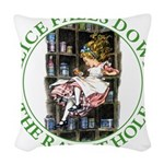 ALICE_DOWN THE RABBIT HOLE_GREEN.png Woven Throw P
