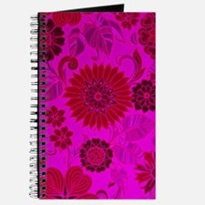 Bright Pink Retro Flowers Journal