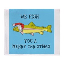 SANTA FISH Throw Blanket