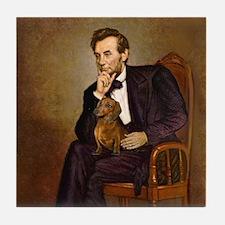 Lincoln's Dachshund Tile Coaster