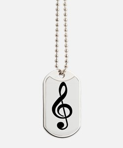 Born To Sing Notes Dog Tags