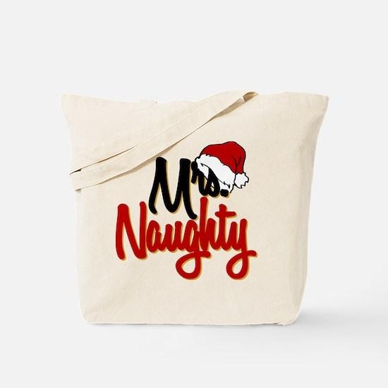 Christmas Mrs Naughty Tote Bag