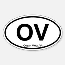 Ocean View, VA Oval Decal