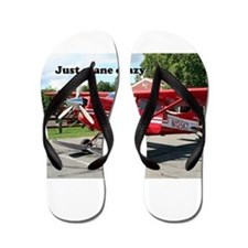 Just plane crazy: red skiplane, Talkeet Flip Flops