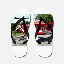 Just plane crazy: red skiplane, Talkeet Flip Flops