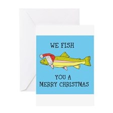 SANTA FISH Greeting Cards
