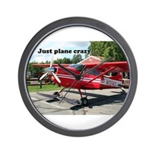 Just plane crazy: red skiplane, Talkeet Wall Clock