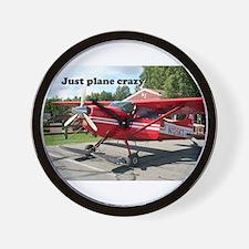 Just plane crazy: red skiplane, Talkeet Wall Clock