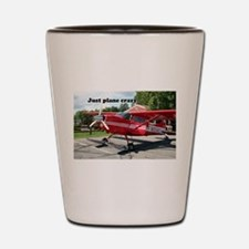 Just plane crazy: red skiplane, Talkeet Shot Glass