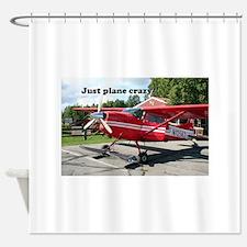 Just plane crazy: red skiplane, Tal Shower Curtain
