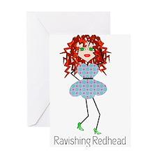 Ravishing Redhead Greeting Cards