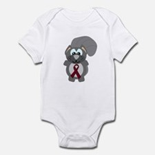 Burgundy Awareness Ribbon Squirrel Infant Bodysuit