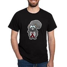 Burgundy Awareness Ribbon Squirrel T-Shirt