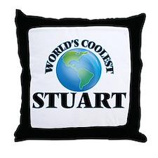 World's Coolest Stuart Throw Pillow