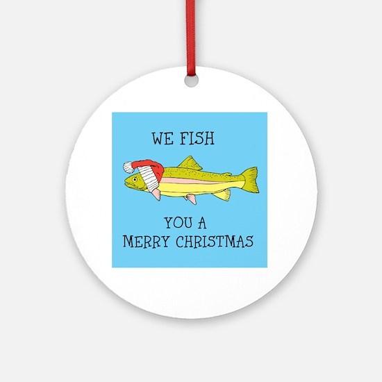 SANTA FISH Ornament (Round)