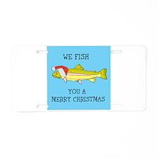 SANTA FISH Aluminum License Plate