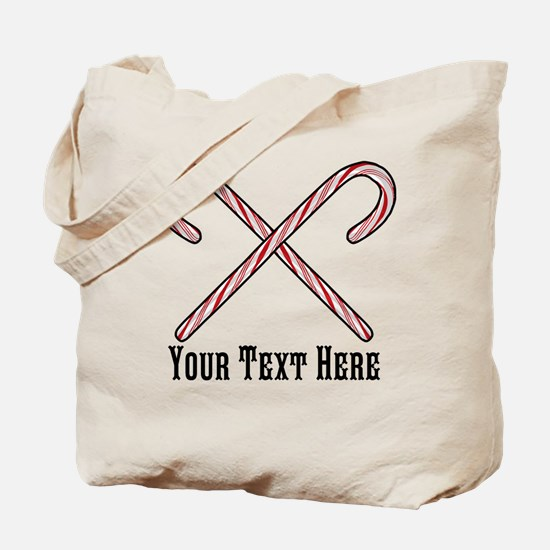 Candy Canes Personalized Tote Bag